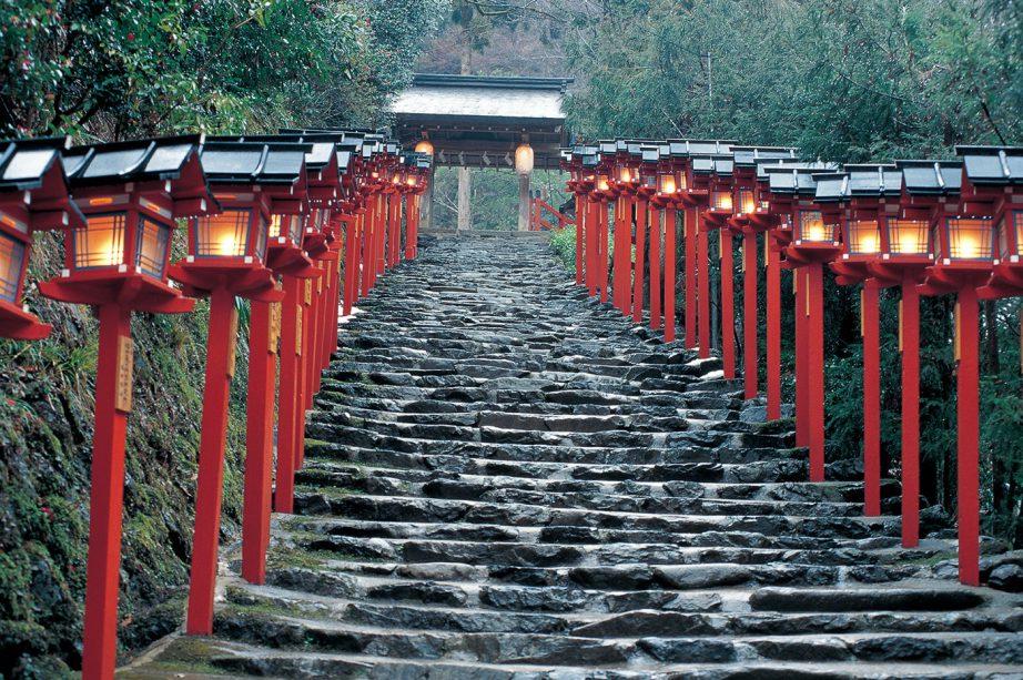 京都・貴船神社にて